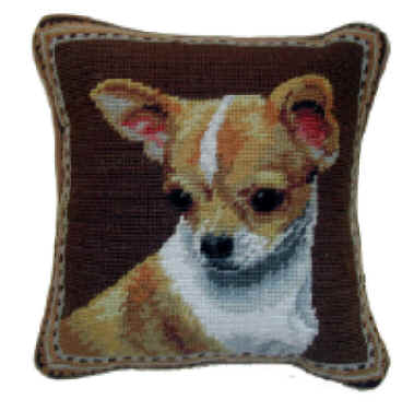 Small 10 needlepoint chihuahua pillows and other unique for Unusual dog gifts