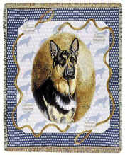 German Shepherd Throw - German Shepherd Afghan