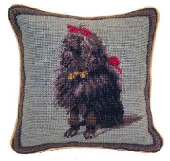 Small 10 Quot Needlepoint Poodle Pillows And Other Unique