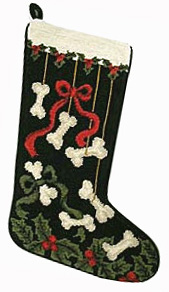 Bows and Bones Christmas Stocking