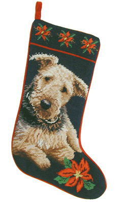 Airedale Terrier Christmas Stockings for Dog Lovers!
