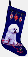 Bichon Frise Christmas Stocking