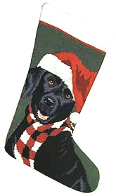 Black Labrador Retriever Christmas Stockings for Dog Lovers!