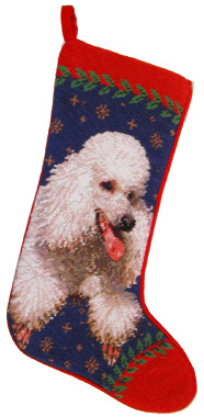 White Poodle Christmas Stockings for Dog Lovers!