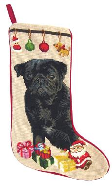 Black Pug Christmas Stockings for Dog Lovers!