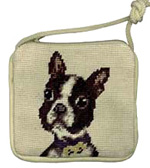Needlepoint Boston Terrier Coin Purse