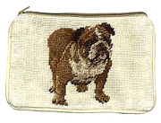 Needlepoint English Bulldog Coin Purse