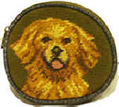 Needlepoint Golden Retriever Coin Purse