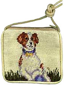 Needlepoint Jack Russell Terrier Coin Purse