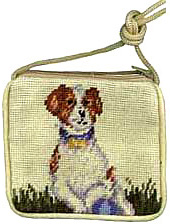 A needlepoint Jack Russell Terrier Coin Purse is a unique and stylish accessory for the Jack Russell Lover!