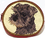 Needlepoint Schnauzer Coin Purse