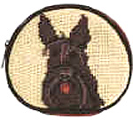 Needlepoint Scottish Terrier Coin Purse