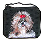Needlepoint Shih Tzu Coin Purse