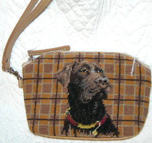 This colorful Chocolate Labrador Retriever Cosmetic Bag makes a wonderful dog breed gift or stocking stuffer!