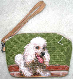 This colorful White Poodle Cosmetic Bag makes a wonderful dog breed gift or stocking stuffer!