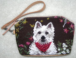This elegant West Highland White Terrier Cosmetic Case is perfect for carrying your cosmetics or loose change.  Many other Westie gifts available at Kissed By Dogs!
