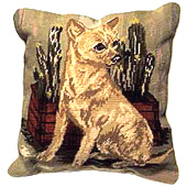 Needlepoint Chihuahua Pillow