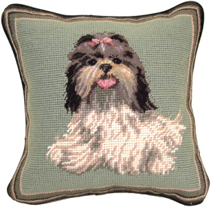 Small 10 Needlepoint Shih Tzu Pillow And Other Unique Shih Tzu Gifts