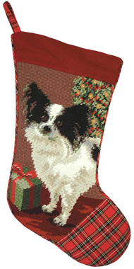 Papillon Christmas Stockings for Dog Lovers!