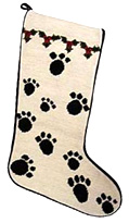 Paw Prints Christmas Stocking for Dogs (1)