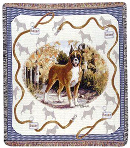 A Beautiful Boxer Afghan Tapestry Throw Makes the Perfect Dog Lover Gift!