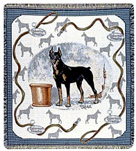 Doberman Throw - Doberman Pinscher Afghan