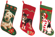 Airedale Terrier Christmas Stocking, Chihuahua Christmas Stocking & Jack Russell Terrier Christmas Stocking