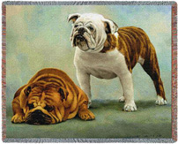 Bulldog Throw - Bulldog Afghan