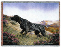 German Shorthaired Pointer Throw - German Shorthaired Pointer Afghan
