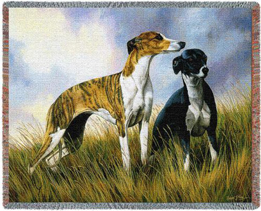 A Beautiful Greyhound Tapestry Throw or afghan Makes the Perfect Dog Lover Gift!