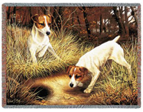 Jack Russell Terrier Throw - Jack Russell Afghan