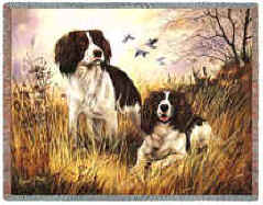 Springer Spaniel Throw - Springer Spaniel Afghan