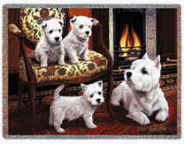 Westie Throw - Westie Afghan